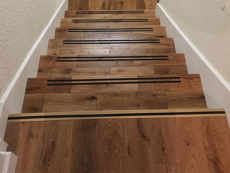 Habillage escalier à Piscop